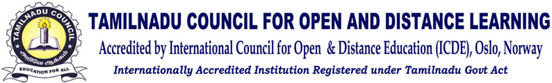 Tamilnadu Council – Open & Distance Learning-Registered under the Government of Tamilnadu,